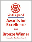 Bronze Winner - Visit England Inclusive Tourism Awards 2018 (Logo)
