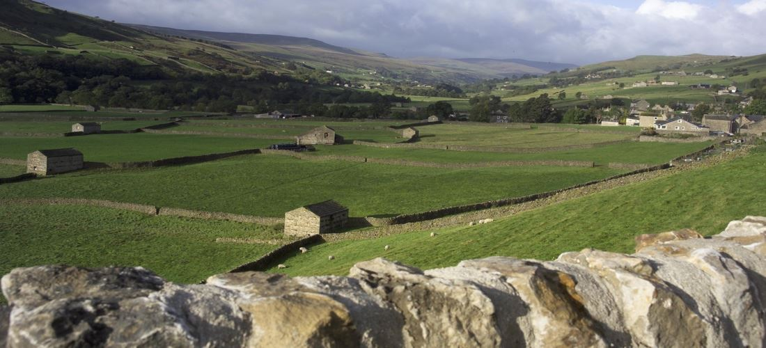 Photograph showing a view of Askrigg