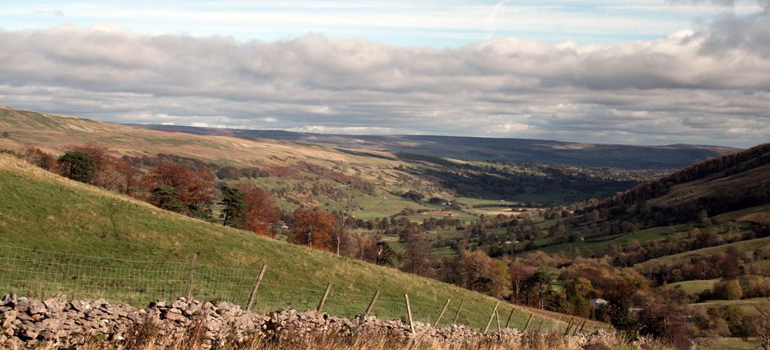 Photograph showing a view of the Yorkshire Dales