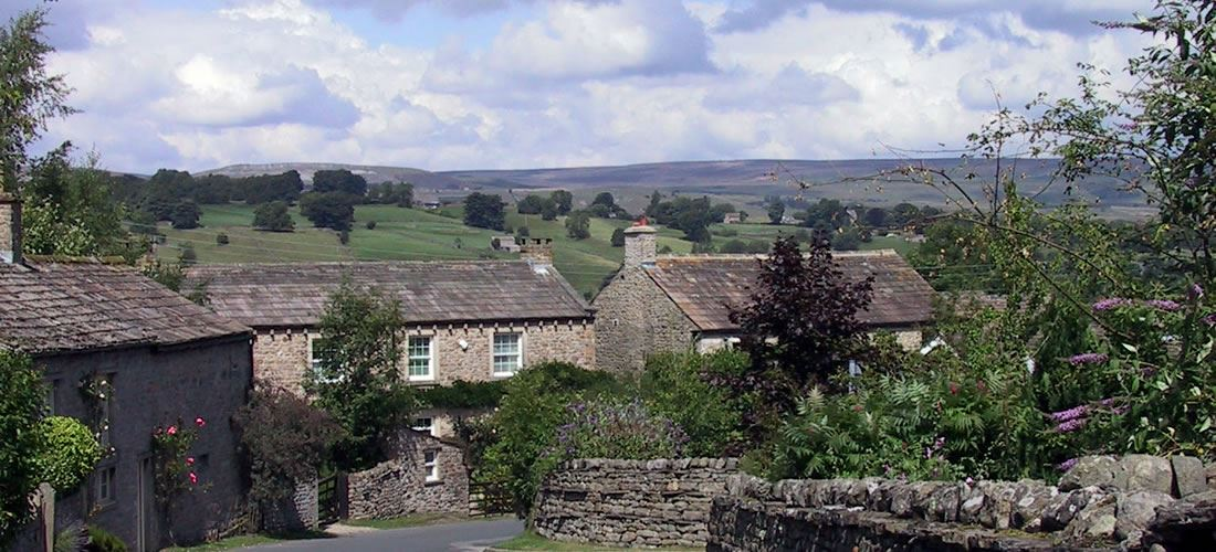 Photograph showing views from West Burton